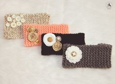 Amanda Abraham Hand knit ear warmers for sale. Detroit, MI Amanda_Abraham_Knit_Ear_Warmers