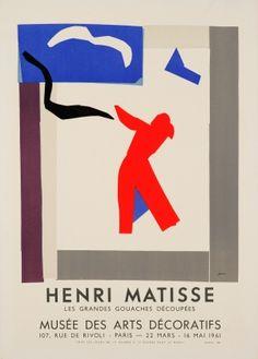 Henri Matisse Mourlot Les Grandes Gouaches Decoupees, 1961 - original vintage exhibition poster by Henri Matisse listed on AntikBar.co.uk