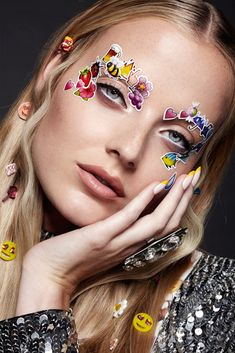 Emoji Emoticon Girl Stickers Beauty Editorial with Model Emily Steel- Emojis, Emoticons | NEW YORK FASHION BEAUTY PHOTOGRAPHER- EDITORIAL COMMERCIAL ADVERTISING PHOTOGRAPHY