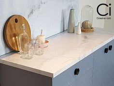 DIY: Easy bubble-free vinyl coverings that are indistinguishable from real Honed Marble.