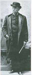 Charles E. Bolton aka Black Bart 1829-1917 Infamous Stage Coach Robber. He had a grudge against Wells Fargo Co.