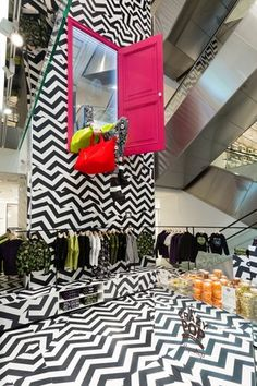 Paris, France pop-up store withing a store- Kenzo  pop-up store at Printemps