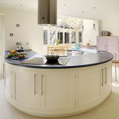 Painted kitchen curved peninsula   Kitchen   PHOTO GALLERY   Beautiful Kitchens   Housetohome.co.uk