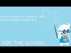 How to Convert Images of Text Into Editable Google Docs | The Gooru
