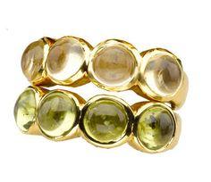 Honey Citrine & Peridot stacking rings