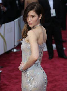 Jessica Biel red carpet booty