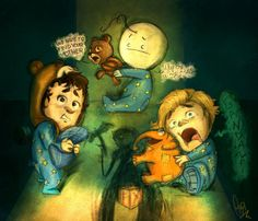 CTK,Cry,Pewds : Among the Sleep by ScribbleNetty on deviantART