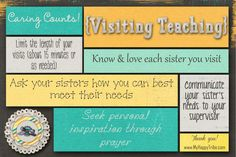 Visiting Teaching Conference Handout