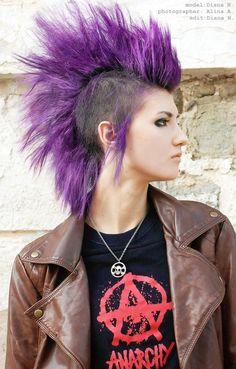 love that purple,I miss my mohawk. :(