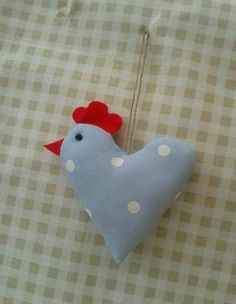 Hand Crafted~Shabby Chic~Chicken/Hen Door Hanger