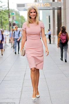 Ivanka Trump wearing Ivanka Trump Knit A-Line Dress