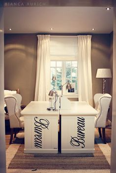 His and her home office on pinterest home offices - Home office ideas for her ...
