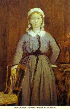 Edgar Degas. Portrait of Thérèse de Gas, the Artist's Sister.