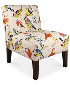 Calabasas Bird Watcher Summer Fabric Accent Chair, Direct Ship