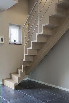 Escalier design avec marches en Z D'hondt
