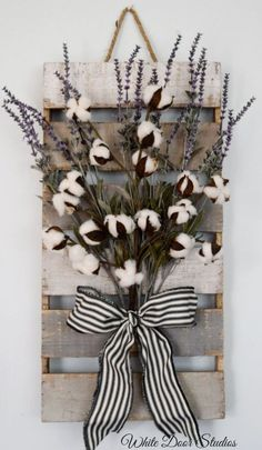 Cotton and Lavender Wall Decor Farmhouse by WhiteDoorStudios