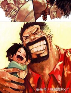 Garp and Luffy _One Piece One Piece Ace, Anime One Piece, One Piece Comic, One Piece Fanart, One Piece Luffy, Manga Anime, Fanarts Anime, Anime Art, One Piece Wallpapers
