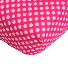 Caden Lane Pink Paradise Pink Dot Crib Sheet