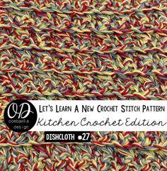 Single Crochet Cluster Stitch Dishcloth Pattern and Tutorial  LLANCS via @OombawkaDesign
