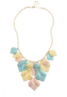 Wouldn't You Fil-agree? Necklace - Multi, Yellow, Blue, Pink, Gold, Party, Statement, Pastel