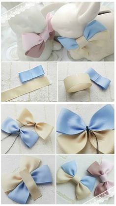 a pair of scissors and three strands of wide Stain Ribbon, you can handle this how to make hair bows plan rapidly.How to make Hair Bows - Free Hair Bow Tutorials Made the elephant for a friend and she loved it!DIY bow with simple instructions. Diy Ribbon, Ribbon Crafts, Ribbon Bows, Diy Crafts, Ribbons, Felt Bows, Ribbon Flower, Making Hair Bows, Diy Hair Bows