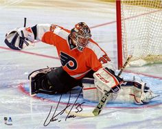 "Steve Mason Philadelphia Flyers Autographed Butterfly In Net 8"" x 10"" Photograph"