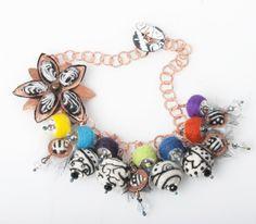 Needlefelted beads