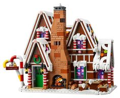 Legos, Lego Store, Lego Creator, Lego Sets, Lego Christmas Train, Diy Christmas, Christmas Decorations, Lego Gingerbread House, House