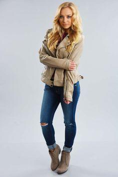 Keeping Warm Jacket: Taupe #shophopes