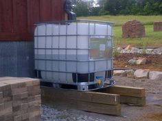"Using rain to water our garden…our solar driven rain collection system takes shape | ""The Farm"" Old World Garden Farms"