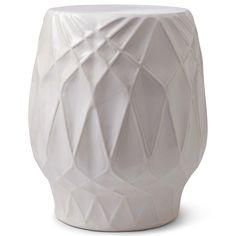 happy chic by jonathan adler embossed ceramic stool