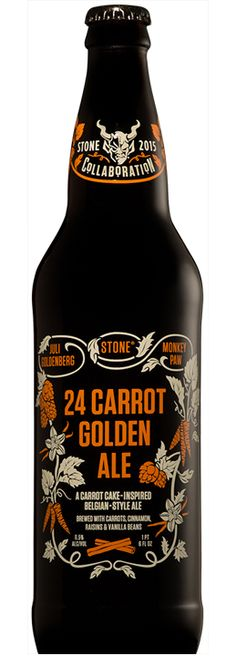 Stone 2015 Collaborations - Juli Goldenberg/Monkey Paw/Stone 24 Carrot Golden Ale