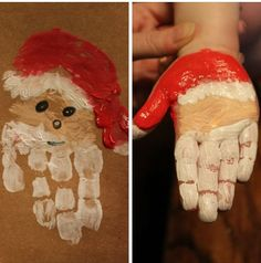 kleinkinder farbe bild weihnachtsmann handprint toddlers color image Santa Claus Get more photo about subject related with by looking at p. Santa Crafts, Holiday Crafts For Kids, Preschool Christmas, Toddler Christmas, Christmas Projects, Kids Christmas, Toddler Art, Toddler Crafts, Classroom Crafts