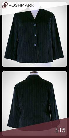 💛 Rafaella Classic Plus size Blazer Black Striped Clasic Blazer  59% Cotton,  30% Nylon,   6% Polyester,  5% Lycra Rafaella Jackets & Coats Blazers
