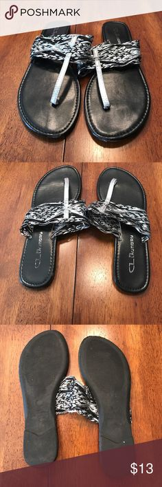 Sandals Black and silver sandal. Great condition. Size 7. Shoes Sandals