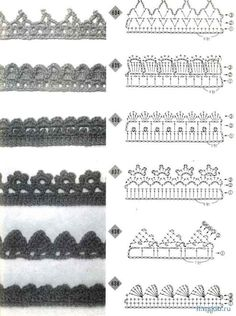 Crochet edging #49 ♥LCE♥ with diagram