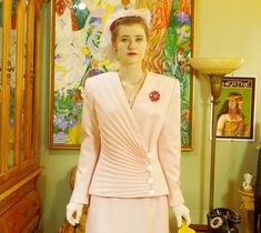 Vintage Lilli Ann Powder Pink Suit . by LuminousLadyVintage - 1980s does 40's