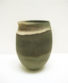 JENNIFER LEE (b. 1956)Pot with asymmetric rim, c. 1988stoneware16.5 x 11 cm (6.5 x 4.3 inches)JLEE264