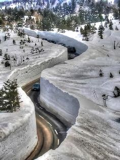Yuki-no-Otani Snow Canyon Road in Japan | Totaly Outdoors