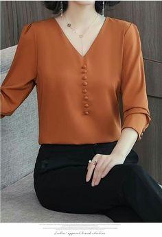 Ideas For Sewing Clothes Women Tunics Sleeve Tunic Pattern, Top Pattern, Sewing Clothes Women, Tunic Designs, Blouse Dress, Mode Inspiration, Blouse Styles, Chiffon Tops, Chiffon Shirt