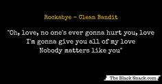 Citazione Rockabye CLEAN BANDIT