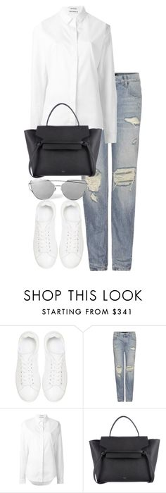 """""""Untitled #2920"""" by elenaday ❤ liked on Polyvore featuring Anine Bing, Alexander Wang and Anthony Vaccarello"""
