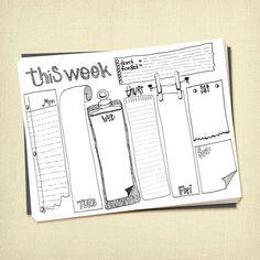 Prinable wöchentlich zu tun Liste Planer von ARTiculatePRINTS                                                                                                                                                                                 Mehr