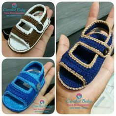 Papete KAUAN de crochê - Tamanho 09 cm - Crochet Baby Yara Nascimento