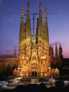 Sagrada Familia, Cathedral in Barcelona, Spain