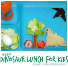 Easy Dinosaur Lunch for Kids from Crystal & Co.