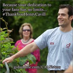 Although we reached our goal, our fundraiser isn't over yet! It ends on 5/31, 11:59pm EST.  So here's our challenge! Can we give more to someone who gives it all?  Let's do those $5 donations & show everyone how much we love & support #HenryCavill! Because he deserves it! Because he gives his best to us. Please, join our #2DaysChallenge & donate $5! Not because we're matching it. It's just you saying to #HenryCavill... #Superman #ManfromUNCLE  #BatmanvSuperman.  Www.gofundme.com/CAASisters
