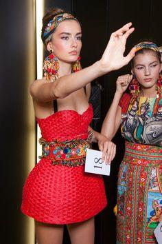 Dolce & Gabbana at Milan Spring 2013 (Backstage)