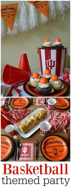 Host the perfect basketball party with plenty of collegiate party supplies to cheer on your team! theblueeyeddove.com #iubb #hoosiers