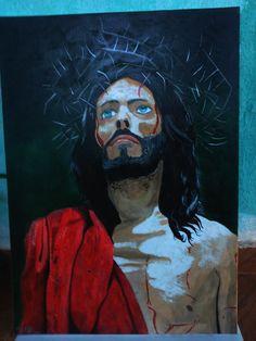 pintura sobre tela  jesus de nazare